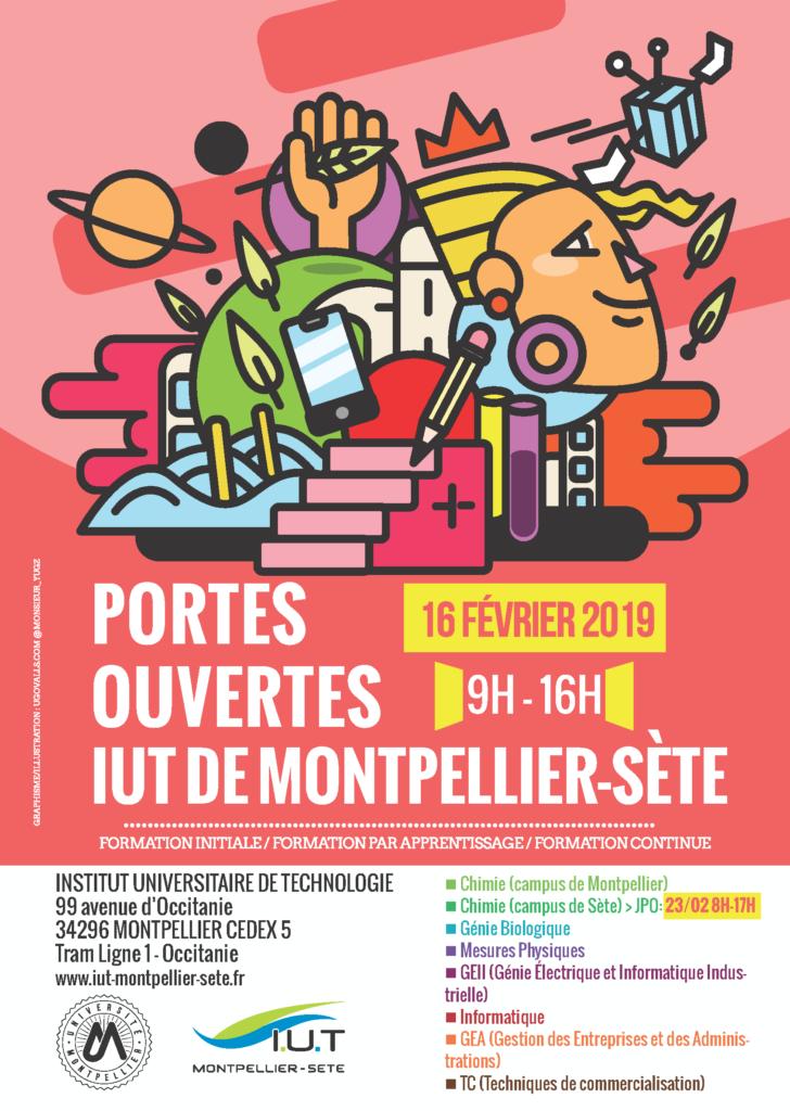 Portes Ouvertes IUT DE MONTPELLIER SETE 16 février 2019 9h-16h